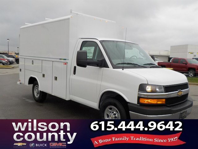 New 2018 Chevrolet Express Cutaway Work Van By Reading Utility Box