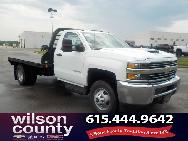 New 2018 Chevrolet Silverado 3500hd Regular Cab 4x2 Diesel Flat Bed Rwd Chassis